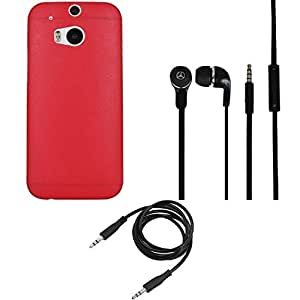 NIROSHA Cover Case Headphone for HTC Desire M8 - Combo