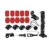 SODIAL Support De Menton Fixe pour Casque De Moto Accessoires De Caméra 4K Sports De...