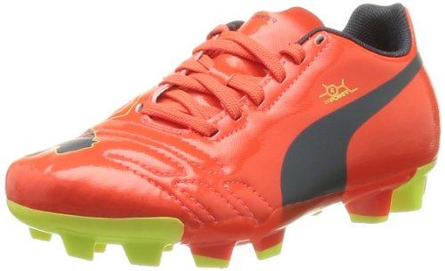 Pre Schuhe Order (PUMA evoPOWER 4 FG Jr 102964 Unisex-Kinder Fußballschuhe, Rot (fluro peach-ombre blue-fluro yellow 01), EU 37.5 (UK 4.5) (US)