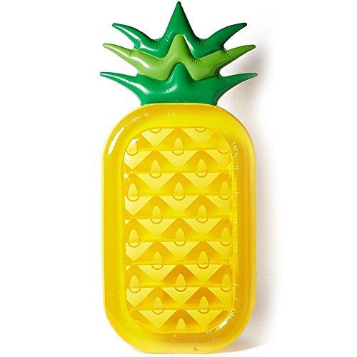 Tante tina - ananas gonfiabile , 188 x 77cm - materassino galleggiante - juguete de piscina - amarillo /verde