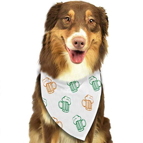 Hipiyoled St. Patrick's Day Bier Muster Mode Welpe Bandana Hund Katze Geburtstag Schal (Diva Katze Kostüm)