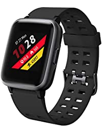 Willful Smartwatch für Damen Herren Fitness Armband 1,39 Zoll Touch Screen Fitness Uhr 5 ATM Wasserdicht Fitness Tracker Sportuhr mit Schrittzähler Pulsuhr Stoppuhr Smart Watch für iOS Android Handy