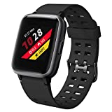 Willful Smartwatch für Damen Herren Fitness1,39 Zoll Touch Screen Fitness Uhr 5ATM Wasserdicht Fitness Tracker Sportuhr mit Schrittzähler Pulsuhr Stoppuhr Smart Watch für iOS Android Handy