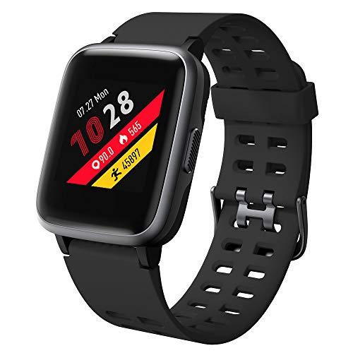 Willful Smartwatch für Damen Herren Fitness Armband 1,39 Zoll Touch Screen Fitness Uhr 5 ATM Wasserdicht Fitness Tracker Sportuhr mit Schrittzähler Pulsuhr Stoppuhr Smart Watch für iOS Android Handy (Android-uhr Automatische)