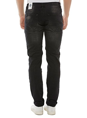 BLUE MONKEY Herren Jeans Slim Fit Jeans Alex-4313 Black Schwarz
