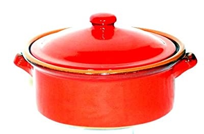 Genuine Terracotta 2l Casserolestew Pot - Savannah Red from Be-Active