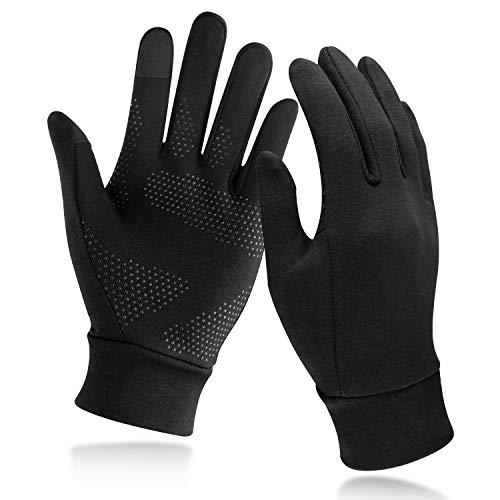 Unigear Touchscreen Handschuhe, Unisex Sporthandschuhe Handschuhfutter Outdoor Laufhandschuhe Warme Winddichte Winterhandschuhe Anti-Rutsch Full Finger für Laufen, Fahren, Radfahren, Wandern