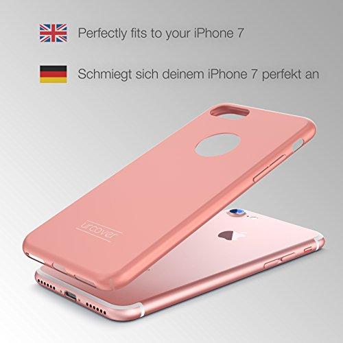 Urcover® Apple iPhone 7 Ultra Slim Hardcase | Kunststoff Blau | Case Handy-Cover Schutz-Hülle Schale Zubehör Rose Gold