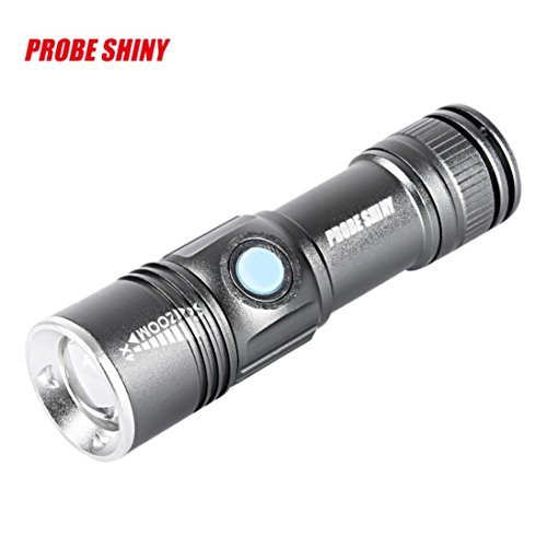 TopTen Fan-Motive LED Taktische Taschenlampe, 1000Lumen 3Modi Mini USB aufladbare Super helle zoombaren-Camping Licht Iphone 4-körper-handschuh-fall