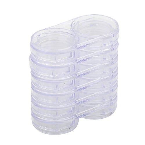 Sanwood Abnehmbare 6Schichten transparent leer Aufbewahrungsbox Fällen für Nail Art Tipps Perlen (Tipps Aufbewahrungsbox)