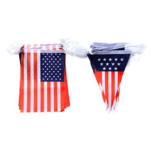rikanische Flagge Banner USA-Flagge Wimpelbanner 4. Juli Unabhängigkeit Party Gastgeschenke für Sport Bar Clubs Geschäfte Zuhause Party Dekoration ()