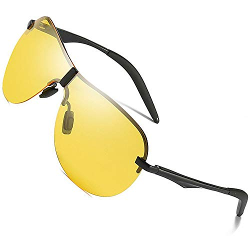 Chensheng Herren Nachtschutzbrillen, Polarisierte Angeln Golf Outdoor Sports Sonnenbrillen HD Gläser Anti-Glare Ultralight,Yellow