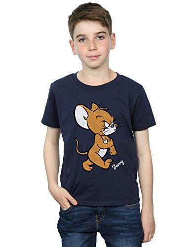 Tom and Jerry Jungen Angry Mouse T-Shirt Navy Blau 7-8 Years