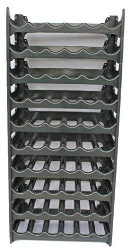 Unimet Cave à vin modulable, Étagère à Bouteille, Casier à Bouteille, Range Bouteille, Porte Bouteille (60 emplacements de Bouteilles, Gris Anthracite)