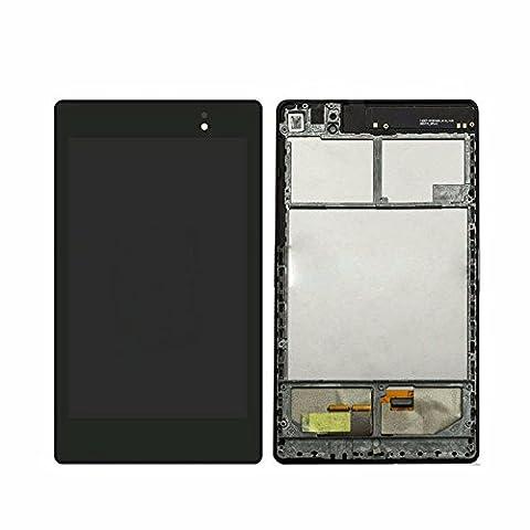 l'assemblée lcd tactile avec une ossature pour Asus Google Nexus 7 2nd Gen 2013 ME571K ME571 K008