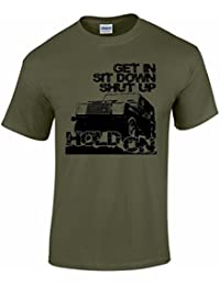 Men's 4x4 T Shirt Get In Sit Down 4wd off Road 4x4 T Shirts
