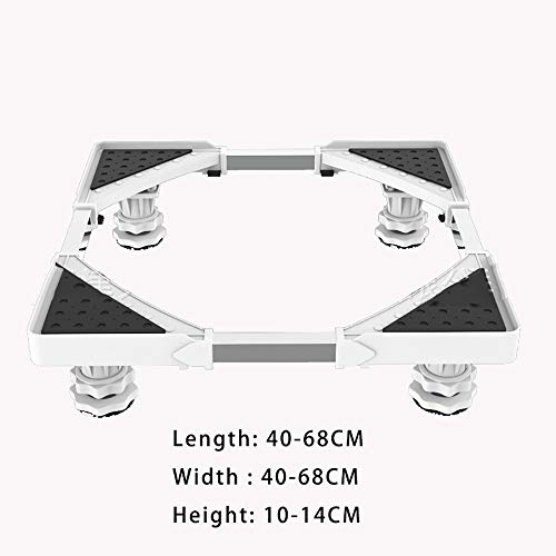GHF Einstellbare Multifunktionsbasis, Mit starken Füßen Einstellbare Universalstütze, Geeignet für Waschmaschine, Trockner, Kühlschrank mit Klimaanlage,White,4Legs