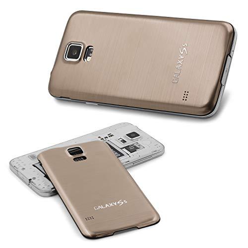 Urcover Kompatibel mit Samsung Galaxy S5 I9600 Handyhülle Aluminium Akkudeckel Galaxy S5 I9600 Schutzhülle Case Cover Etui Champagner Gold