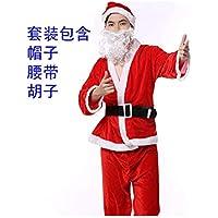 SDLRYF Disfraz De Papá Noel Navidad Santa Claus Traje Traje De Hombres Mostrar Disfraz Santa Claus