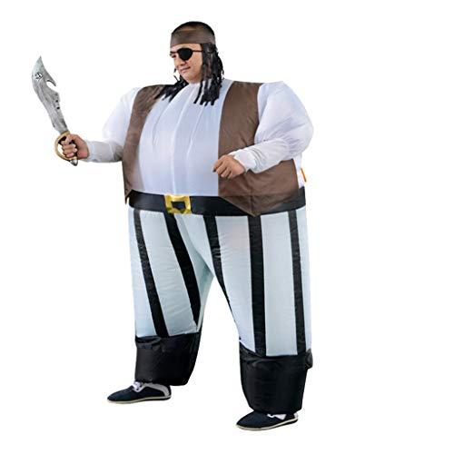 LIUXIN Halloween-Piraten-aufblasbare Klage-Rolle, die Piraten-aufblasbare Kostüm-Maskerade-Partei-Stützen spielt