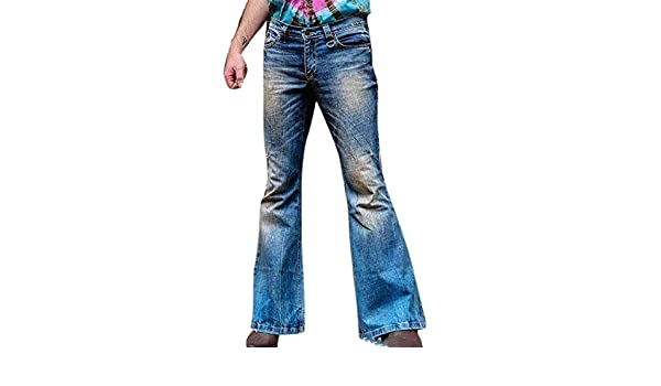 Dcola Pantaloni A Zampa Maschile Jeans Strappati Jeans da Uomo Europei E Americani Jeans da Uomo Elastici in Stile Hong Kong.