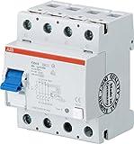 ABB Stotz S&J FI-Schutzschalter F204B-63/0,3 4P,TypB,63A,300mA Fehlerstrom-Schutzschalter 8012542989004