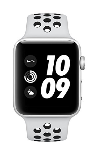 Apple Watch Nike+ GPS 42mm Smart Watch (Silver Aluminum Case, Pure Platinum/Black Nike Sport Band)