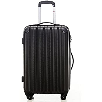 Travelhouse ABS Hard shell 4 wheel Travel Trolley Suitcase Luggage ...