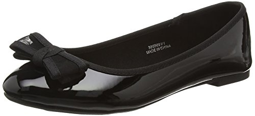 New Look Wide Foot Looty, Ballerine Donna, Black (black/01), 39.5 EU