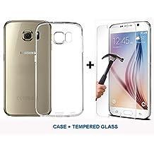 Cristal Templado 9H + Funda de Gel TPU Silicona Suave Ultrafina y Flexible MarvTek para Samsung Galaxy S6 de Gran Calida Transparente y Fina para Conservar la Estética y Diseño del Smartphone. Protege los Bordes de la Cámara. Se Envía desde España