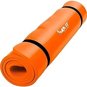 MOVIT® - Tapis de sol pour pilates et fitness - sans phthalate - certifié SGS - couleur jaune - L 190 x l 60 x E 1,5 cm