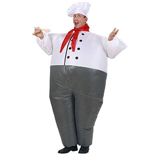 Imagen de jefe de cocina airsuit traje hinchable cocinero atuendo cocinitas para inflar outfit fiesta temática cocinero disfraz inflable ropa carnaval original