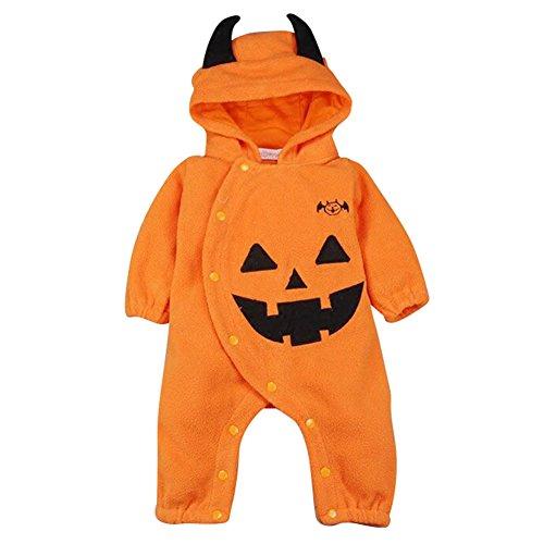 Bambino pagliaccetti neonato tutina - hibote ragazze ragazzi halloween jumpsuit zucca tutina inverno tutine cartone animato abbigliamento set