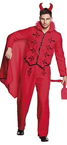 Für Herren Kostüm Teufels Rote - Boland 79109 Erwachsenenkostüm Teufel Gr. 50/52, Herren, rot