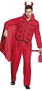 Boland 79109adultos Disfraz de diablo (Talla 50/52, hombre, color rojo