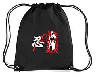 T-Shirtshock - Sac ? Dos Budget Gymsac TAM0119 last ninja dark tshirt, Taille Capacité de 11 litres.