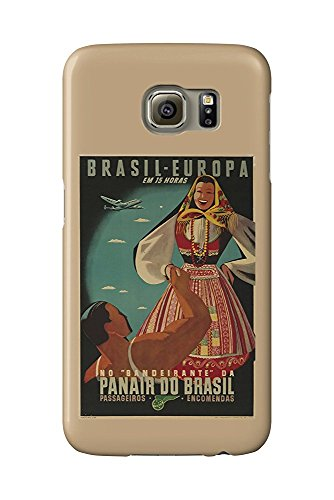 Panair do Brasil Vintage Poster c. 1947 (Galaxy S6 Cell Phone Case, Slim Barely There)
