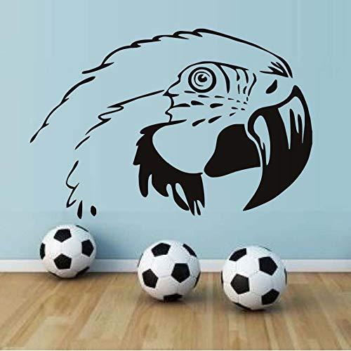 Cyalla Papagei Kopf Wandaufkleber Für Kinderzimmer Wandkunst Dekor Pvc Abnehmbare Diy Tier Wandtattoos Dekoration Zubehör 64 * 43 ()