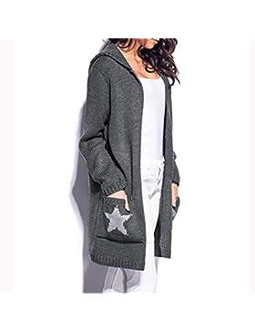 ZODOF Suave cómodo Suéter de Punto de MujerSeñoras de Las Mujeres de Invierno de Manga Larga Informal Suelta suéter...