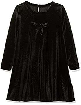 NAME IT Nitfirikke Ls Vel Dress F Mini, Vestido para Niñas, Negro (Black), 110