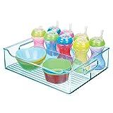 mDesign Cesta organizadora para cuarto infantil - Caja para juguetes grande con asas...