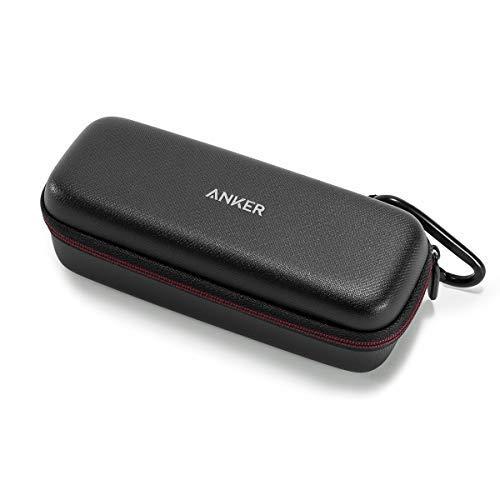Anker SoundCore & SoundCore 2 & Motion B Tragetasche Box Kunstleder Case, Premium Bluetooth Lautsprecher Speaker Schutztasche, Hülle Cover (Schwarz)