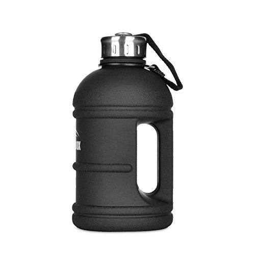 SMILODOX Wasserflasche für Sport Fitness & Training   Trinkflasche 1.5 & 2.2 Liter   Gym Bottle Water Jug - XXL Sporttrinkflasche - Shaker Flasche - BPA & DEHP Frei, Farbe:Schwarz 1.5 Liter - Große Sport Jug