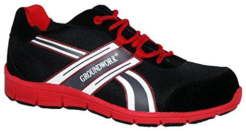 Groundwork , Chaussures de sécurité pour homme Rouge