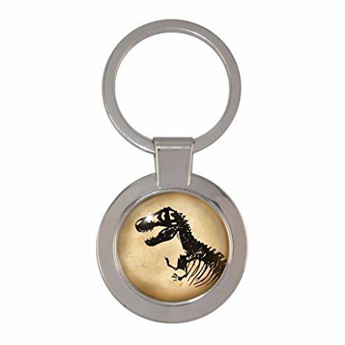 1StopShops Schlüsselanhänger, Motiv: Dinosaurier/Skelett