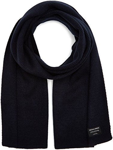 jack & jones nos jacdna knit scarf noos sciarpa, blu navy blazer, taglia unica uomo