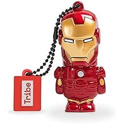Tribe Disney Marvel Avengers Iron Man Chiavetta USB da 16 GB Pendrive Memoria USB Flash Drive 2.0 Memory Stick, Idee Regalo Originali, Figurine 3D, Archiviazione Dati USB Gadget in PVC con Portachiavi - Multicolore