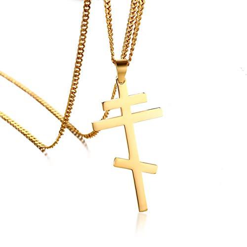Kostüm Ukraine Der - Slawische Kreuz Anhänger Halskette Für Männer Orthodoxe Christentum Ewige Kirche Schmuck Russland/griechenland/ukraine
