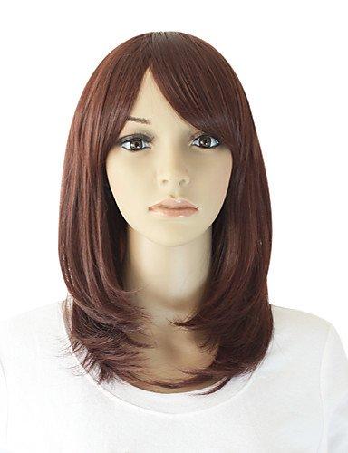 capless longue haut niveau de qualité du chocolat cheveux bruns perruque droite