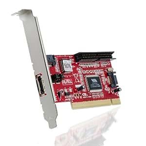 CSL - PCI Controller Karte - 2x SATA - 1x IDE - 1x eSATA - RAID: Level 0, 1, JBOD - Chipsatz VIA